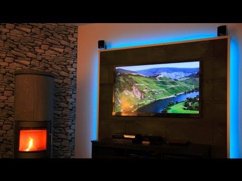New LED TV Wand selber bauen Cinewall do it yourself YouTube