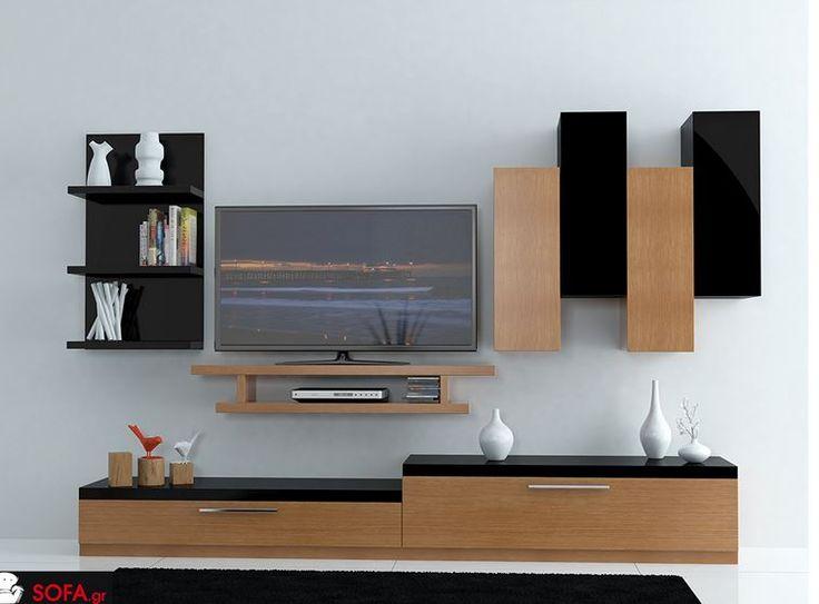 Σύνθεση Gallery σε δρυς και μαύρη λάκα http://www.sofa.gr/epiplo/synthesi-salonioy-gallery