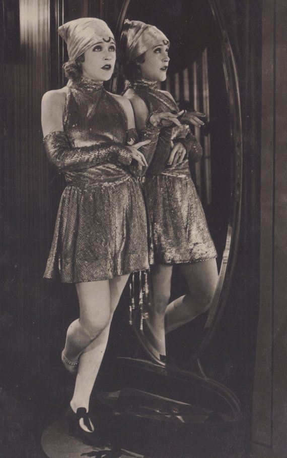 Fabulous Mirror Image of Mae Murray, Silent Film Star, circa 1925