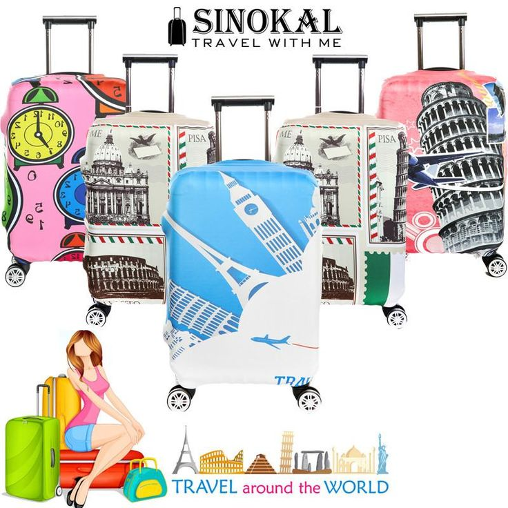 Luggage Cover Travel Suitcase Cover Dustproof Spandex Elastic Baggage – Loucrative Travel Goods