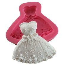 3d vestito pannello esterno della principessa forma dello stampo in silicone della torta del fondente che decora gli attrezzi c589(China (Mainland))