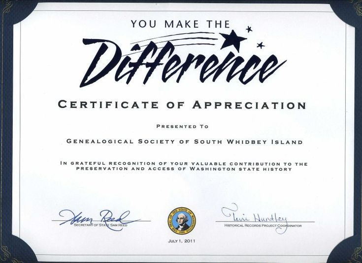 Best 25 certificate of appreciation ideas on pinterest free thank you certificates for volunteers thiscertificate signed by sam reed secretary of state yelopaper Image collections