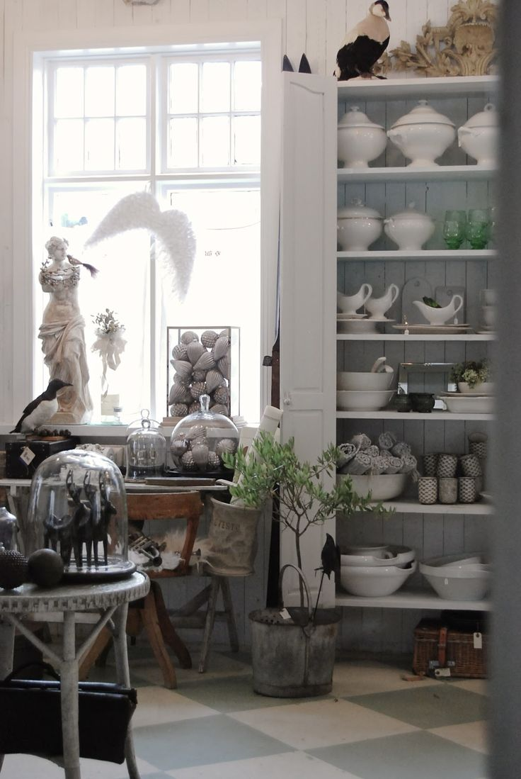 Dining room white grey black chippy shabby chic for Rustic french country
