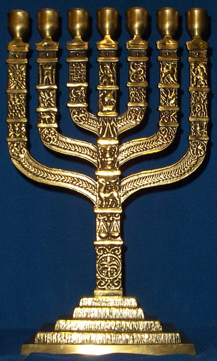 "Menorah: A Jewish symbol of the ""light"" mentioned in 1 Kings 11:36"