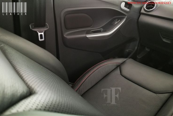 Customised Leather Seat Covers with real perforation designed and installed by Team FF Car Accessories