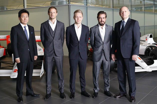 The strongest team for the 2015 season. McLaren picks Jenson Button over Kevin Magnussen to partner with Fernando Alonso for the 2015 Formula One World Championship.