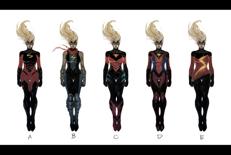 These were some concept art done by Dexter Soy THAT contributed for the development Carol Danvers Captain Marvel costume.    http://dexnefar007.blogspot.fr/2012/06/cm-concepts.html