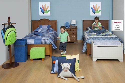 AMBIENTE HERMANOS   Cuando la familia es grande que mejor que dos hermanos compartan su habitación con camas diferentes que caractericen sus personalidades.