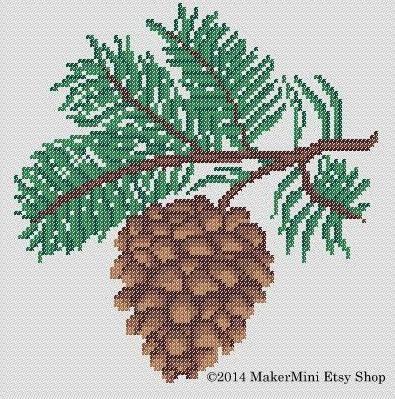 Pinecone - Cross Stitch Pattern