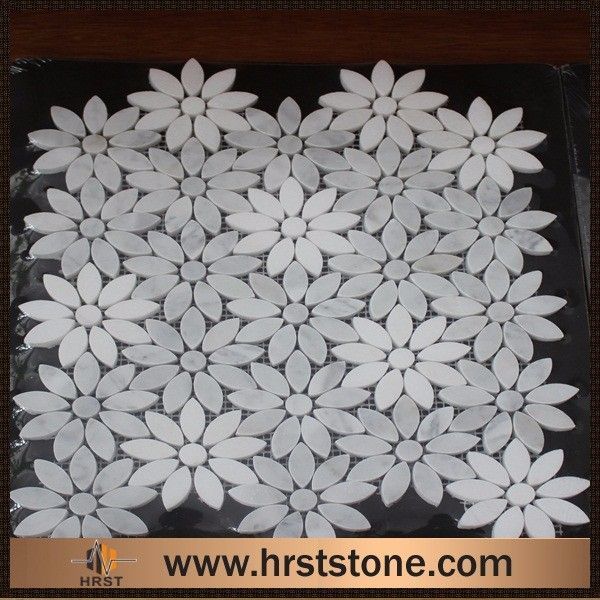 Decorative material white marble arabesque mosaic tiles for sales