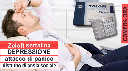 Trattamento depressione, panico e ansia con Sertralina Zoloft
