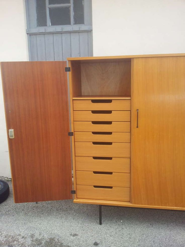 Pierre guariche storage edition meuble tv 1952 wardrobes for Meuble tv armoire