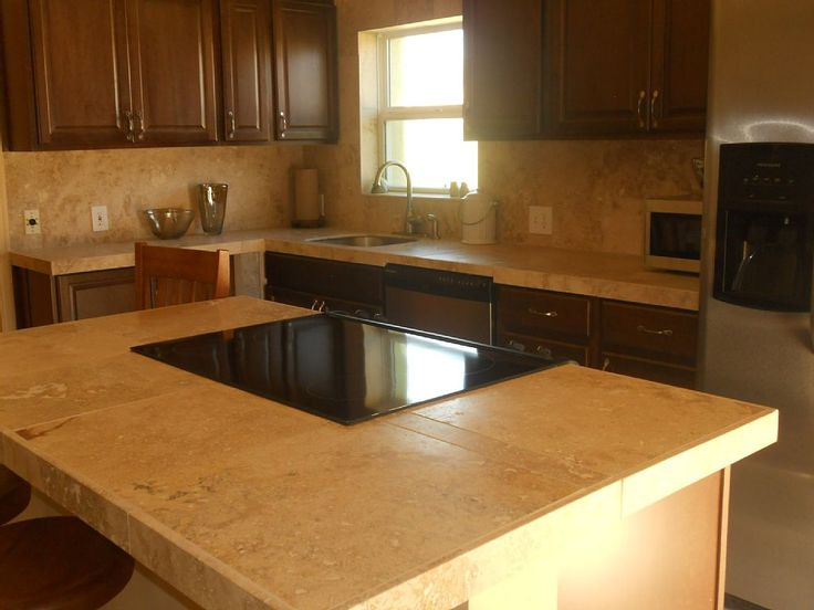 Travertine Countertops For Kitchen Countertops Kitchen Countertop Ideas Pinterest