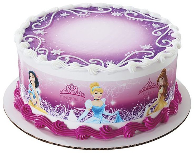Disney Princess Glamour Designer Sheet Wrap Edible Image