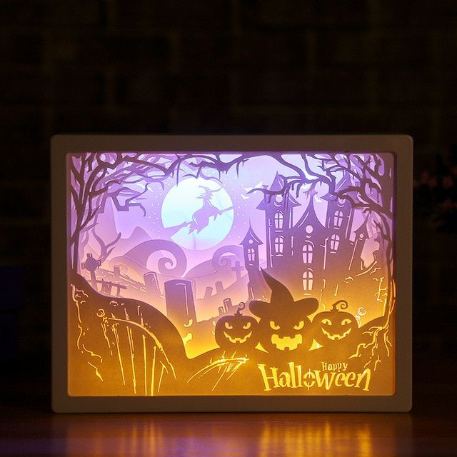 3d Paper Carving Night Lights Paper Carving Night Lights Paper Carving Paper Tree 3d Paper