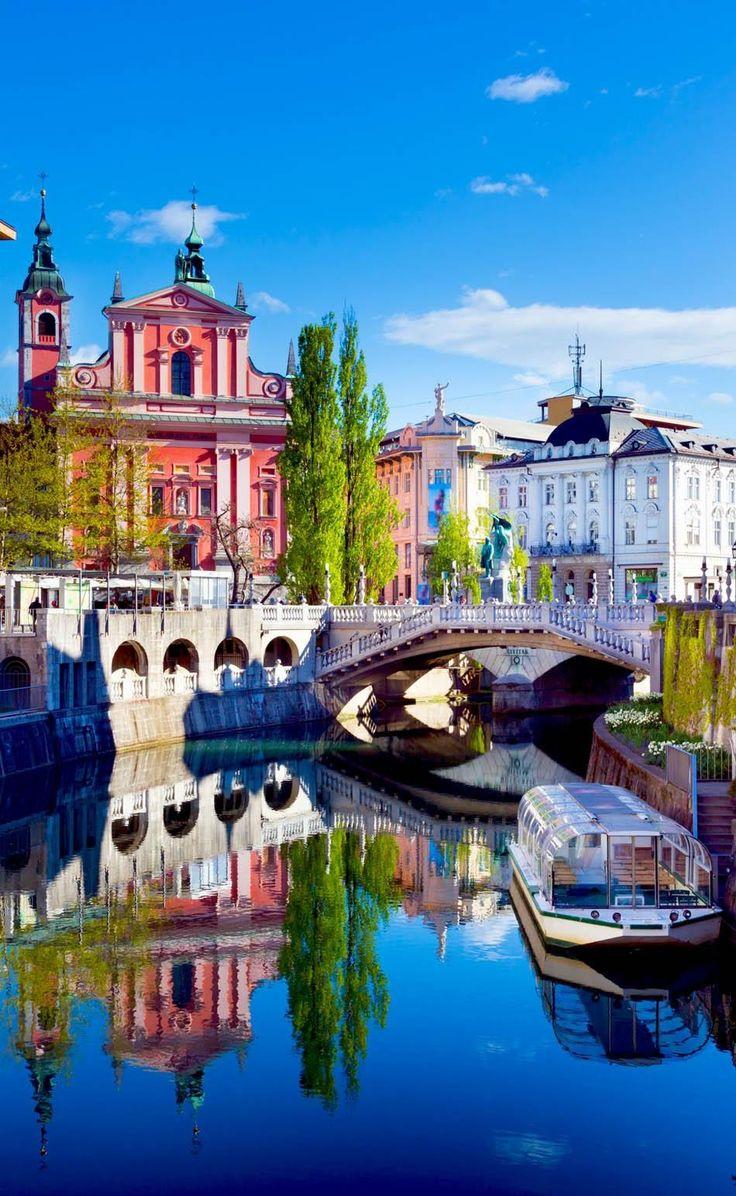 Liubliana, capital da Eslovénia; melhor destino para Primavera