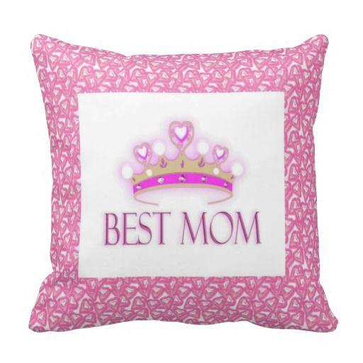 #Zazzle Best Mom Crown American Mojo Pillow by elenaind