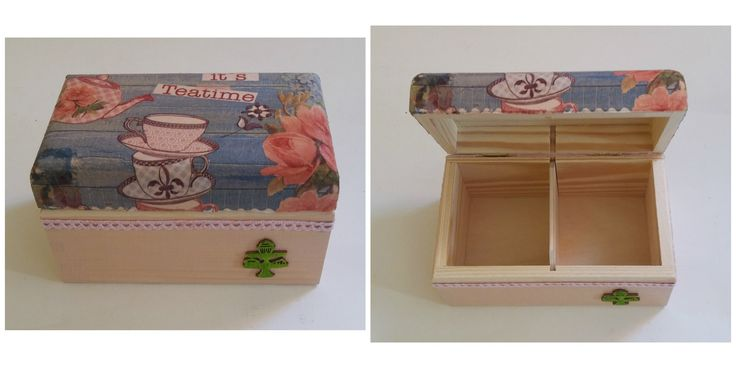 Wooden box for tea bags