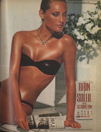Ban De Soleil ad (1983) I used this and now I have major sun damage to my skin :( It worked REALLY GOOD