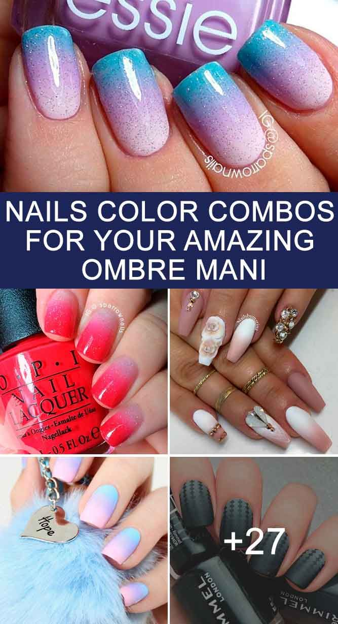 Cool Nails Color Combos For Your Amazing Ombre Mani Makeup Nails