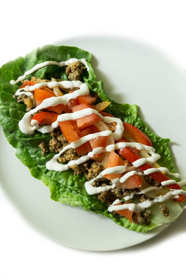 Great meatless taco filling for lettuce wraps or with tortillas (or to top salads). Love this cashew sour cream too.