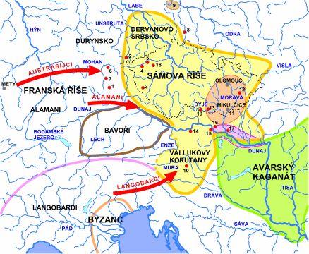 MM - mapky - Sámova říše
