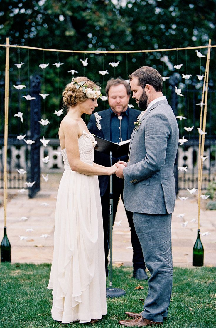 #backdrop, #canopy Photography: Joey Kennedy Photography - joeykennedyphotography.com Read More: http://www.stylemepretty.com/2014/09/15/organic-vintage-mellon-park-garden-wedding/