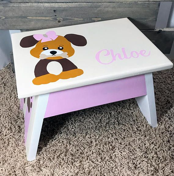 Childrens Furniture Step Stool Personalized Wooden Step Stool