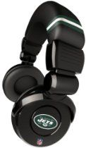 iHip Official NFL - NEW YORK JETS - Noise Isolation Pro DJ Quality Headphone With Detachable Cord And Built-In Microphone With Volume Control, NFH26NYJ
