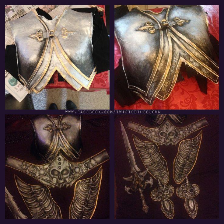 Arthas Menethil/Lich King armour progress http://www.facebook.com/twistedtheclown