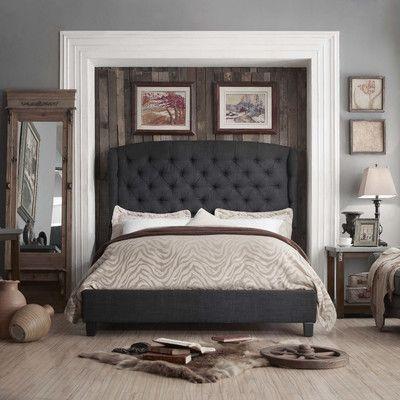 Mulhouse Furniture Felisa Queen Upholstered Platform Bed Upholstery: Charcoal, Size: King