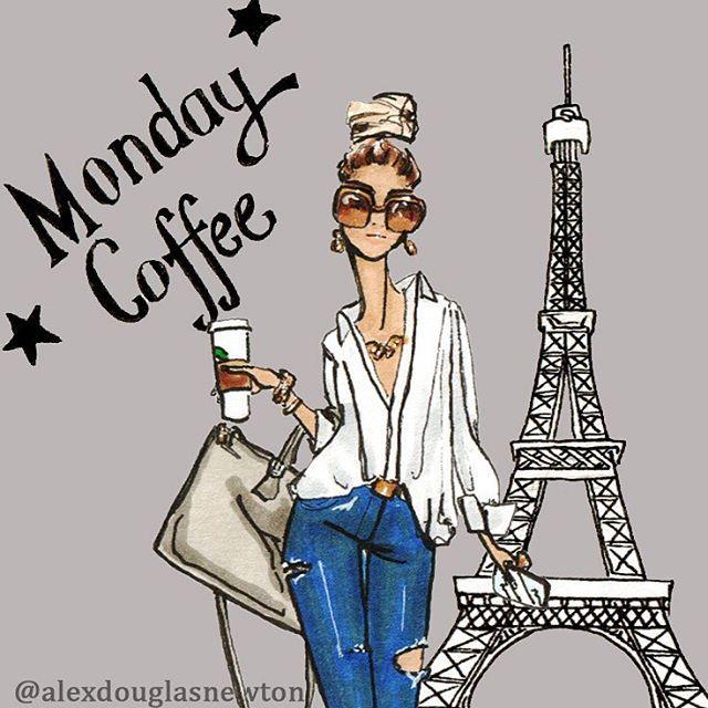 Monday Coffee, Paris #mondaycoffee #morningcoffee #coffee #starbucks #prada #pradabag #coffeetime #coffee #eiffeltower #paris #parisienne #parisstreetstyle #streetstyle #frenchchic #worklife #rippedjeans #whiteshirt