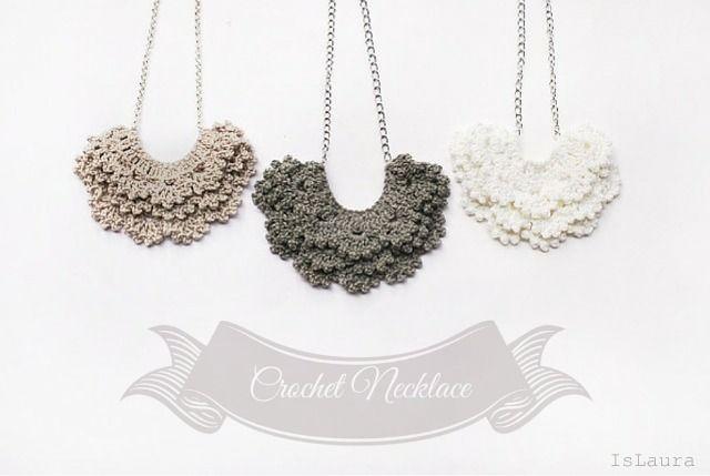 tutorial necklace crochet