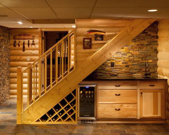 Under stairs wet bar instead of bathroom?? Basement Cottage Bathroom Design, Pictures, Remodel, Decor and Ideas - page 6