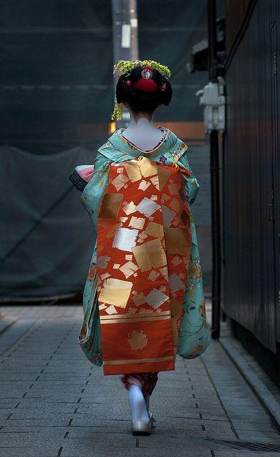 Beautiful Kimono/Obi color combo