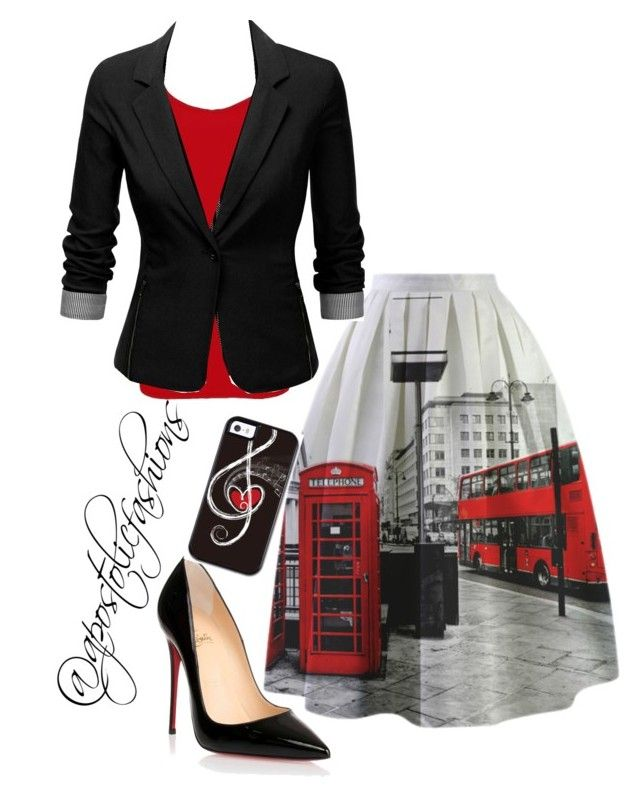 """Apostolic Fashions #996"" by apostolicfashions on Polyvore featuring BKE core, J.TOMSON and Christian Louboutin"