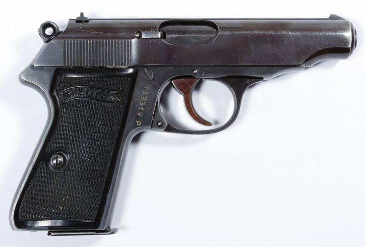 Lot 467: Walther PP .22 cal Semi-Auto Pistol (Serial #139319P); Double action 10-round magazine fed semi-automatic pistol; including Plano pistol case