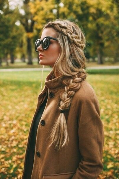 Blonde braided hair, long blonde hair, braids