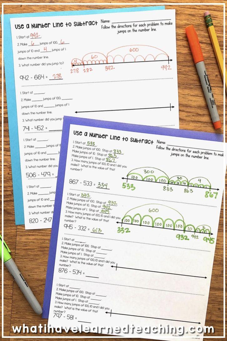 Three Digit Subtraction Worksheets Subtraction Worksheets Subtraction Teaching Second Grade