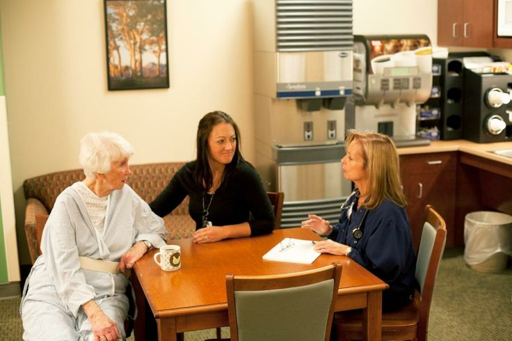 Refreshment for patients and their guests are close by in the patient care areas for easy access at any time of the day or night.