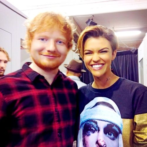 ruby rose and ed sheeran image