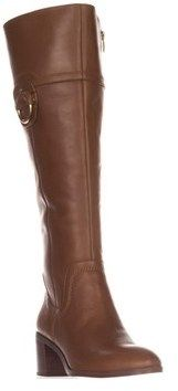 Franco Sarto Beckford Wide Calf Knee-high Fashion Boots, Whiskey.