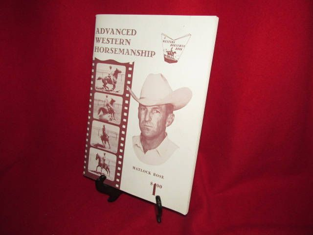 "Vintage Softcover Booklet ""Advanced Western Horsemanship -- Matlock Rose "" by TheBookE on Etsy"
