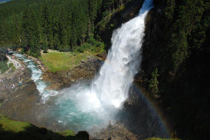 Piękny widok na wodospad Krimml. Fot. Paweł Paśnik