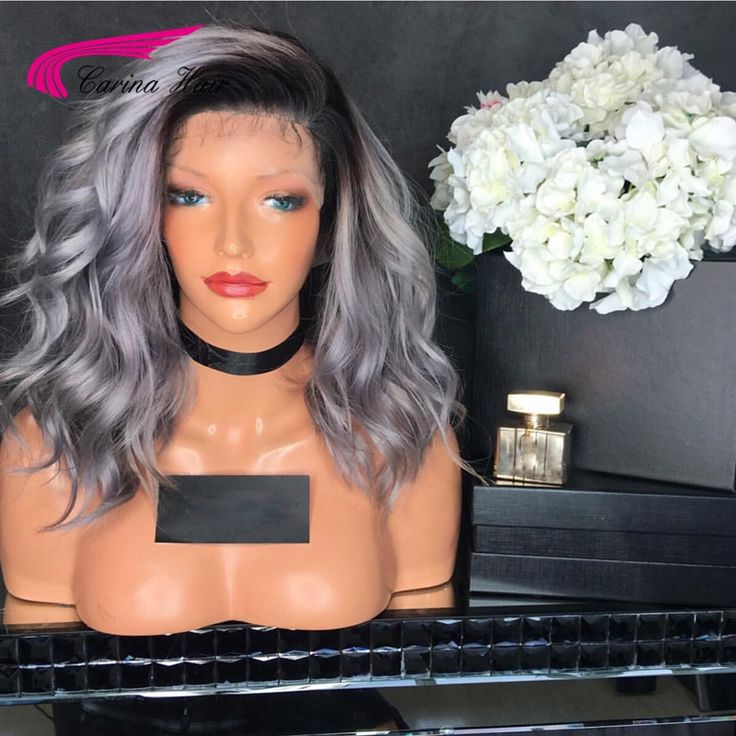 Peruvian gray full lace human hair wigs for black women silver grey glueless best human hair wigs lace front wig