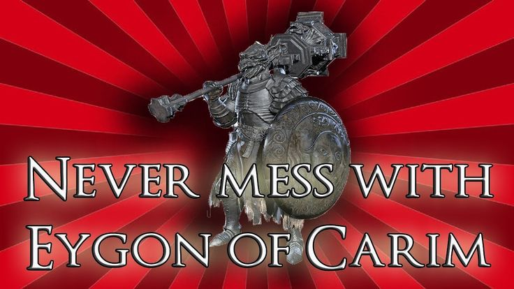 Never mess with Eygon of Carim - Dark Souls 3