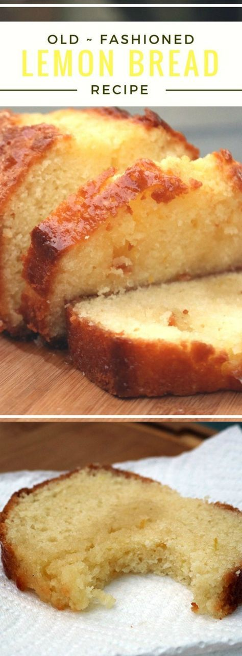This Old Fashioned Lemon Bread from Carrie's Home Cooking is a perfect dessert or snack for any time of the day. Lemon zest and fresh squeezed juice adds a bright and fresh taste, and the perfect spring time flavor!