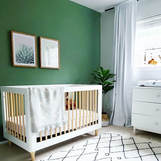 A Little Saturday Night Nursery Inspo Love The Green Accent Wall