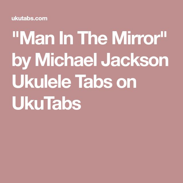 man in the mirror chords pdf