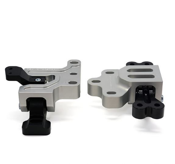 Motorsport Engine/Transmission Mount Pai, Mk5/Mk4 Volkswagen Golf/Jetta/GTI/GLI and 8J/8P. 034Motorsport's Performance Mounts for MkV/MkVI Volkswagen & 8J/8P Audi models are are the new standard in track performance. Our mounts are designed with performance in mind, and manufactured from billet aluminum and high-durometer rubber for increased performance and durability, while maintaining better ride characteristics than polyurethane alternatives. Motorsport Mounts are void-free and…
